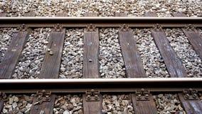 Track of train railway station Interlaken Royalty Free Stock Photos