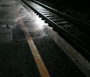 Track at the train station Royalty Free Stock Photos
