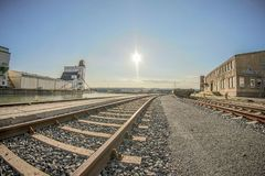Track, Transport, Sky, Rail Transport royalty free stock photos