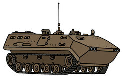 Track troop carrier. Hand drawing of a sand launcher track troop carrier - not a real model Royalty Free Stock Image
