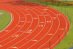 Track Turn. A new 8-lane track Royalty Free Stock Photography