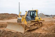 Free Track-type Bulldozer KOMATSU D65EX At Construction Site Royalty Free Stock Images - 179527989