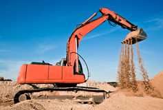 Track-type excavator Stock Photography