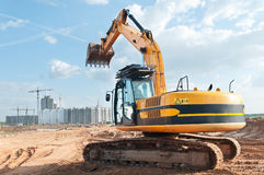 Track-type loader excavator at Royalty Free Stock Image