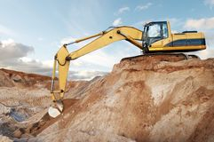 Track-type loader excavator at Royalty Free Stock Photography