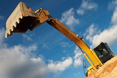 Track-type loader excavator at Stock Image