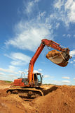 Track-type loader excavator at work Royalty Free Stock Image