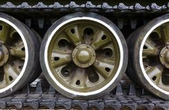 Track and wheels of the  tank Royalty Free Stock Photos