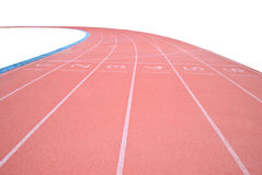 Track on the white background Royalty Free Stock Photo