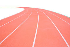 Track on the white background Royalty Free Stock Images