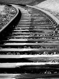 Track in Winter (black & white) stock photos