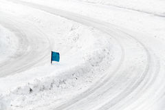 Track Winter car racing Royalty Free Stock Photos