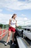 track woman Στοκ εικόνες με δικαίωμα ελεύθερης χρήσης