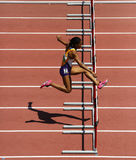 Track Woman Hurdles Run Stock Photos