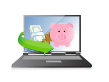 Track your savings technology concept Royalty Free Stock Image
