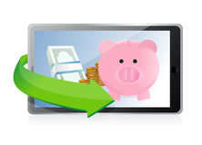 Track your savings technology concept Royalty Free Stock Photos