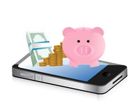 Track your savings technology concept Royalty Free Stock Photo