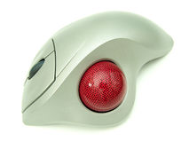 A trackball mouse. A close-up of a trackball mouse royalty free stock photography