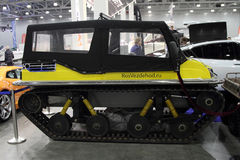 Tracked all-terrain vehicle TERRANICA Dreamtrack in the exhibition Crocus Expo in Moscow. Stock Photography