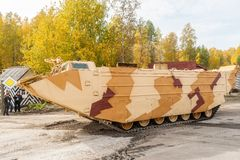 Tracked amphibious carrier PTS-4. Russia Stock Photos