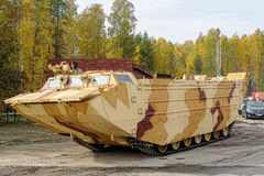 Tracked amphibious carrier PTS-4. Russia Royalty Free Stock Image