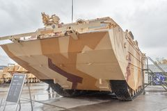Tracked amphibious carrier PTS-4. Russia Royalty Free Stock Images