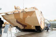 Tracked amphibious carrier PTS-4. Russia Stock Image