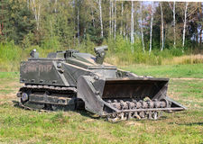Tracked armored robot-minesweeper Stock Photography