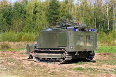 Tracked armored robot-minesweeper Stock Images