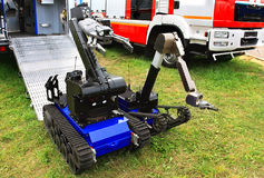 Tracked armored robot-Minesweeper Royalty Free Stock Photo