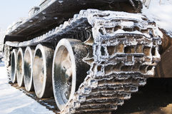 Tracked armored vehicles. An old armored tracked locally Royalty Free Stock Photography