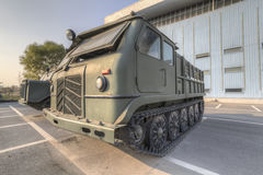 Tracked artillery tractor. Type 60 medium tracked artillery tractor,in 1960 the development, design stereotypes, 1961 Royalty Free Stock Image