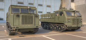 Tracked artillery tractor Stock Photos