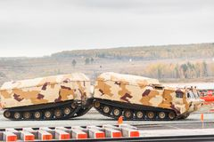 Tracked carrier DT-30P1 in action. Russia Royalty Free Stock Photos