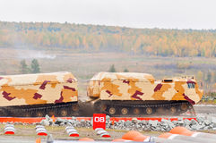 Tracked carrier DT-30P1 in action. Russia Stock Image