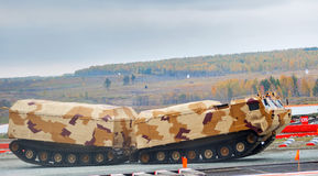 Tracked carrier DT-30P1 in action. Russia Stock Photos