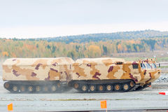 Tracked carrier DT-30P1 in motion. Russia Stock Photography