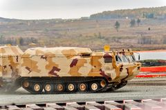 Tracked carrier DT-30P1. Russia Royalty Free Stock Photos