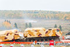 Tracked carrier DT-30P1 after water ford Royalty Free Stock Images