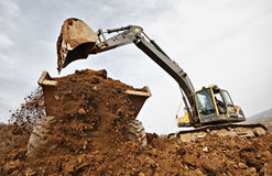 Tracked excavator Stock Photo