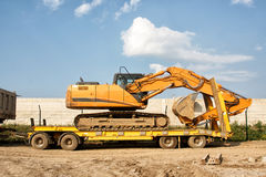 Tracked excavator Royalty Free Stock Image