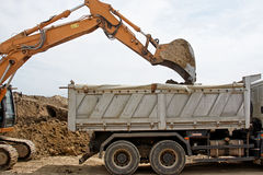 Tracked excavator Stock Photos