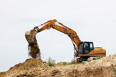 Tracked excavator Royalty Free Stock Photos