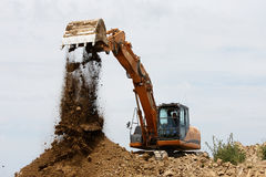 Tracked excavator Stock Images
