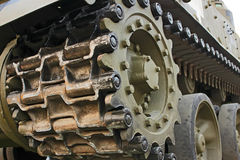 Tracked military equipment, close-up Stock Photo