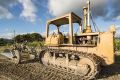 Tracked for plowing fields Stock Photography