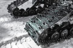Crawler wheel all-terrain vehicles in winter royalty free stock photography