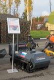 Tracked robot machine gun Stock Images