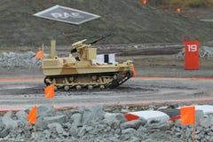 Tracked robot machine gun Royalty Free Stock Photo