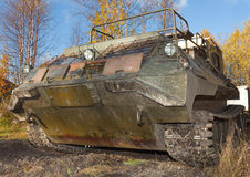 The tracked vehicle for transportation of soldiers Stock Photography